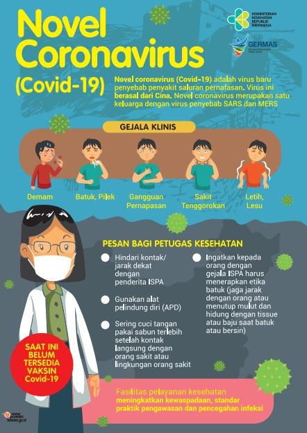 Poster Tentang Cara Mencegah Virus Corona COVID-19 Bagi Petugas Kesehatan Tim Medis