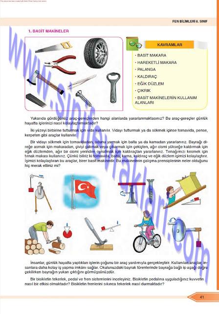 Öğün Yayınları 8. Sınıf Fen Bilimleri Ders Kitabı Cevapları Sayfa 41