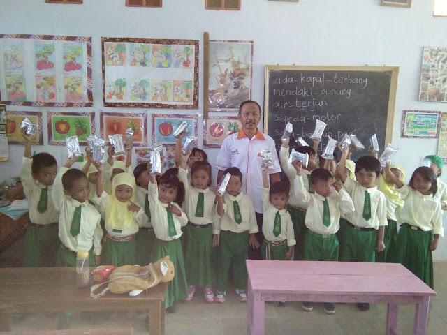 Abdullah, KL Lazismu Paleran bersama siswa siswi TK ABA Paleran