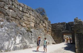 Antigua ciudad de Micenas. Península del Peloponeso.