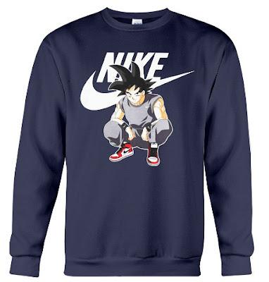 goku nike sweatshirt, goku nike jacket, goku nike hoodie, goku nike sweater