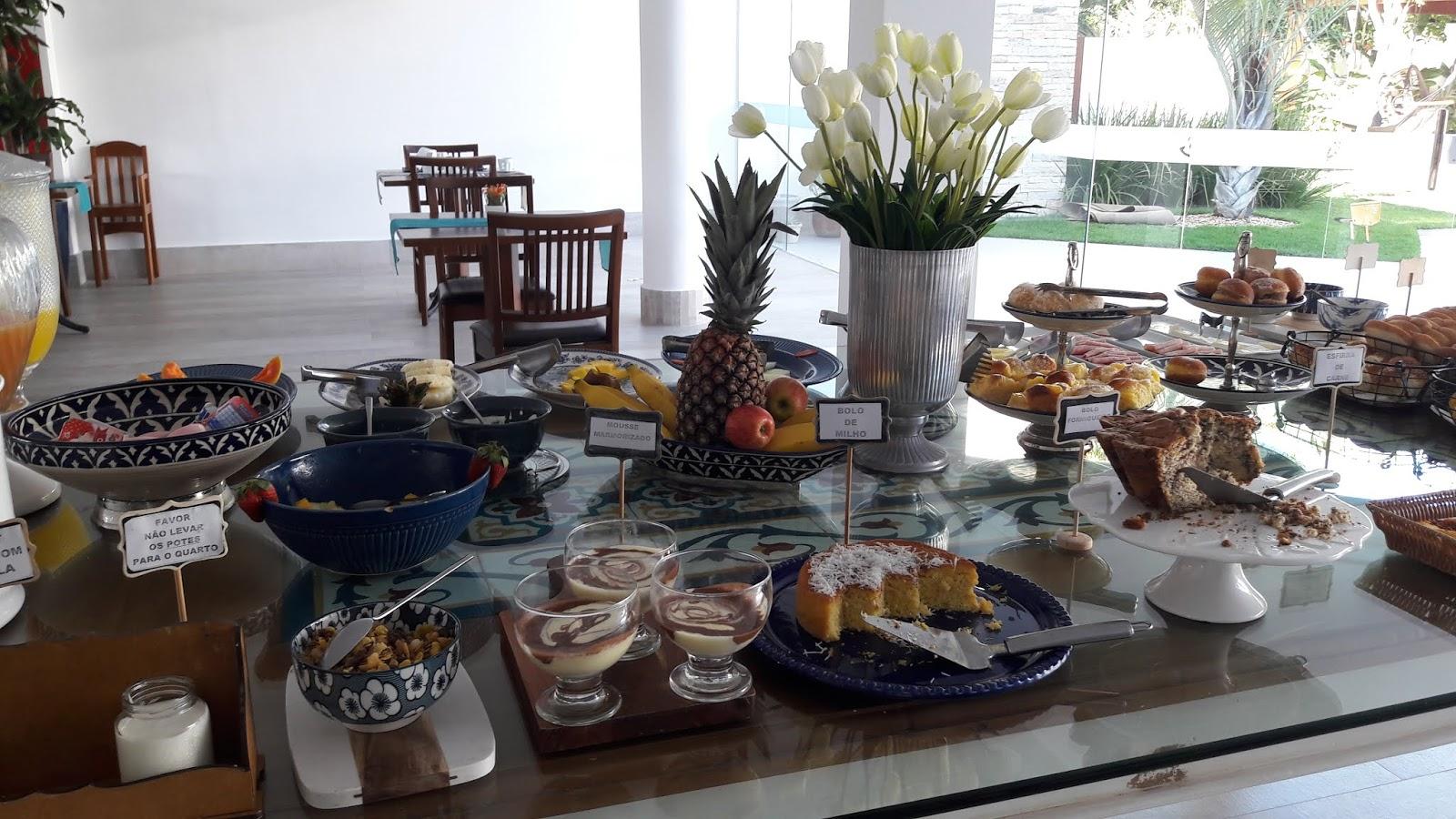 Café da manhã, Hotel Boutique Recanto da Passagem em Cabo Frio