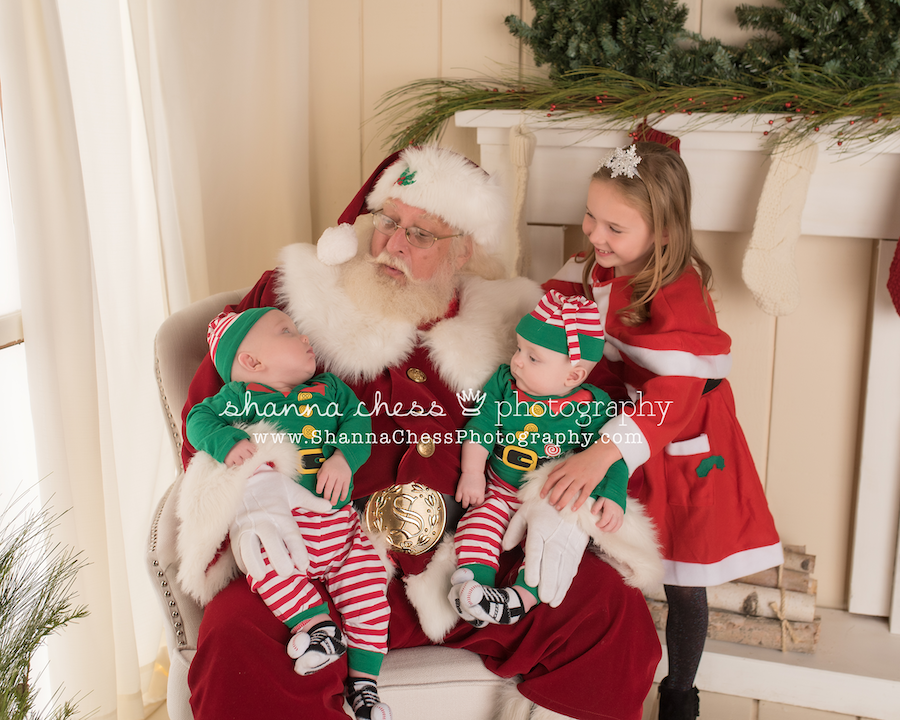 eugene oregon photographer pictures with santa