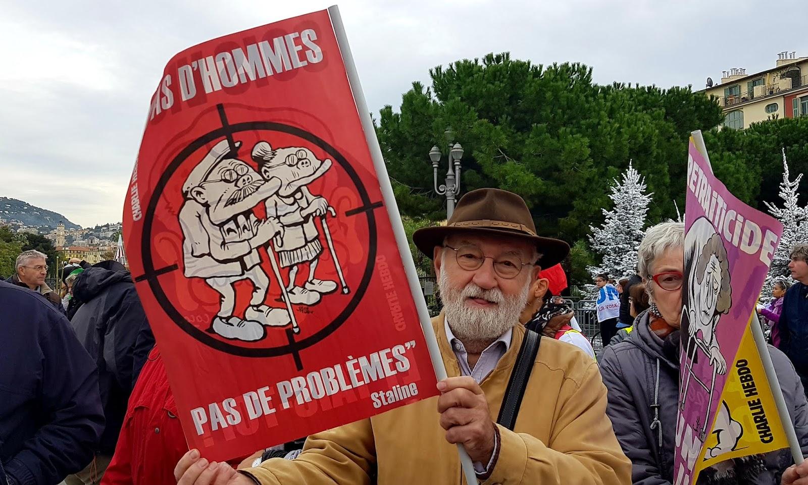 Manifestation contre le projet de réforme des retraites à Nice, place Massena, le jeudi 5 décembre 2019 | © C.A. pour Rivieractu Magazine
