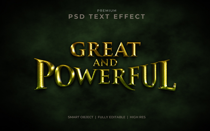 Great & Powerful Photoshop Text Effect Mockup