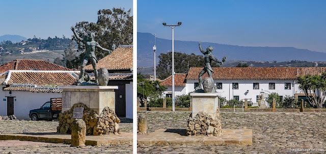 Estátua de Antonio Ricaurte, herói da independência da Colômbia