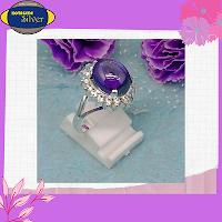 cincin wanita batu kecubung purple