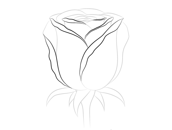 Gambar detail kelopak mawar