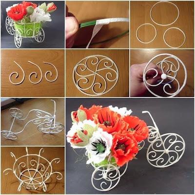 Atelie Cantinho Da Arte Bicicleta Feita De Arame