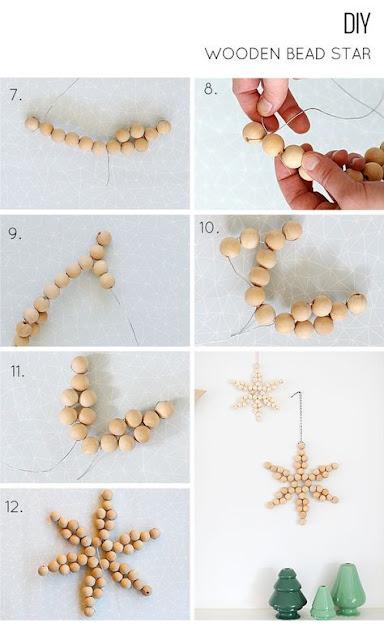 flocos de neve com bolinhas de bijuteria