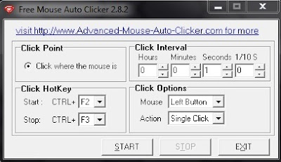 Automatic mouse click software