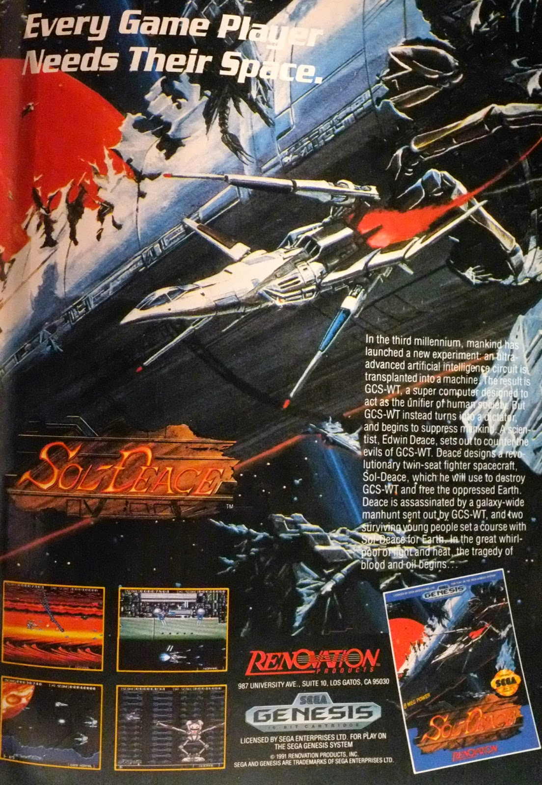 Sol-Deace for Genesis advertisement