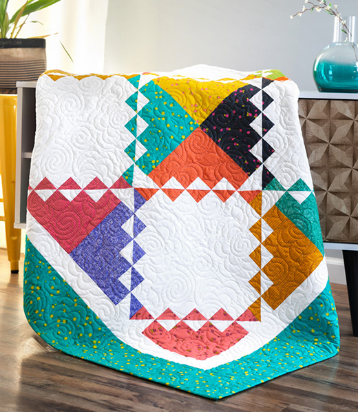 Rickrack Quilt Free Tutorial designed by Jenny of Missouri Quilt Co