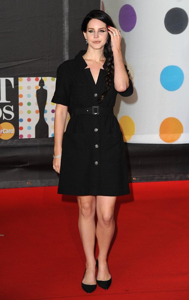 Lana Del Rey In A Chanel Shirt Dress At The Brit Awards 2013