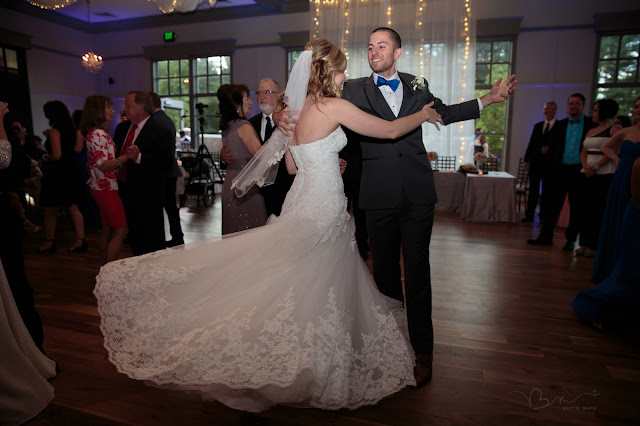 first dance dress twirling at Noah's Event Venue in Auburn Hills Michigan