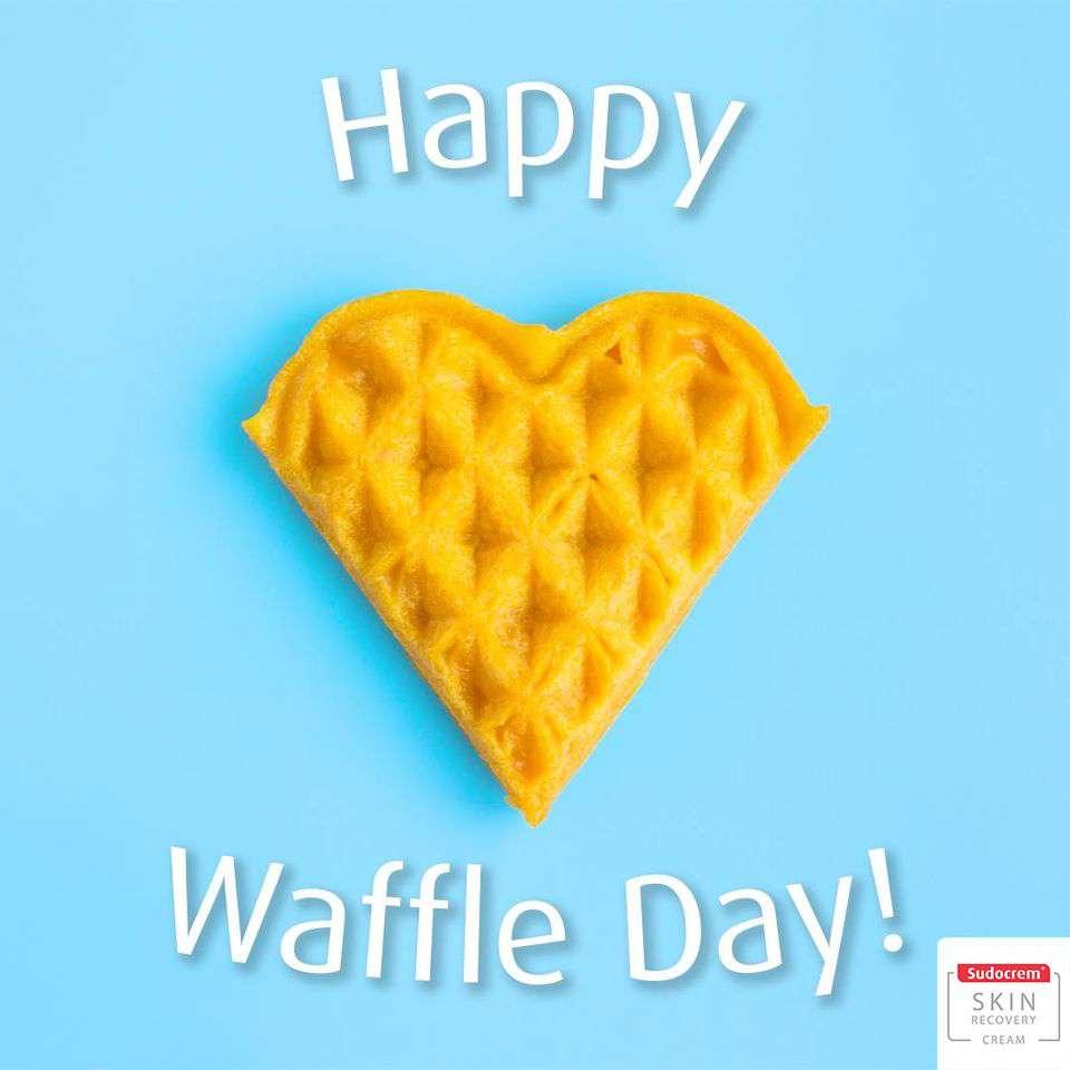 International Waffle Day Wishes Beautiful Image