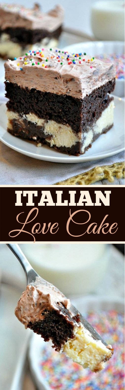 Easy Chocolate Italian Love Cake #cake #recipes #desserts #baking #chocolate