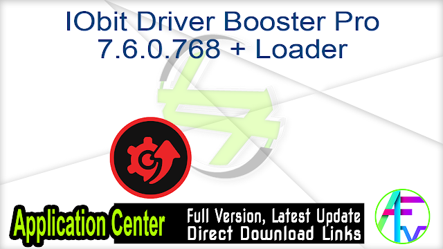 IObit Driver Booster Pro 7.6.0.768 + Loader