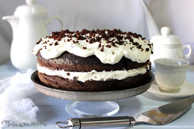 Tarta guinness de chocolate. Julia y sus recetas