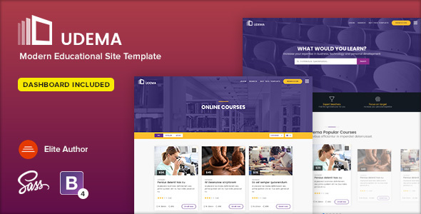 UDEMA - Modern Educational Site Template - Free Html Templates