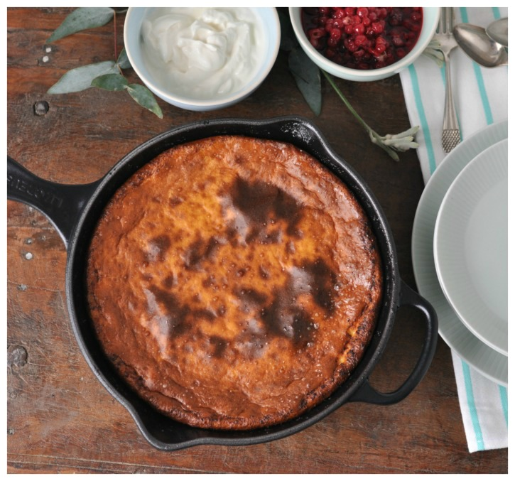 Dutch Baby, a gluten free treat for brunch or breakfast