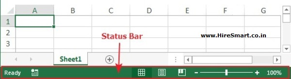 Excel's Status bar Sections