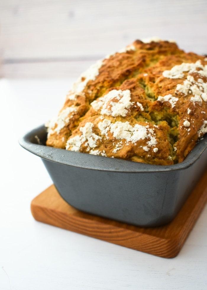 Pesto & Garlic Beer Bread