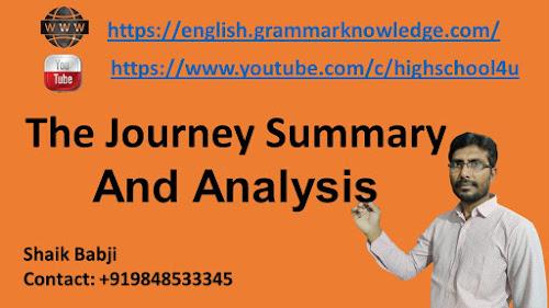 The Journey Summary