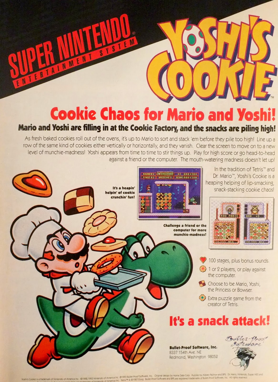 Yoshi's cookie advertisement
