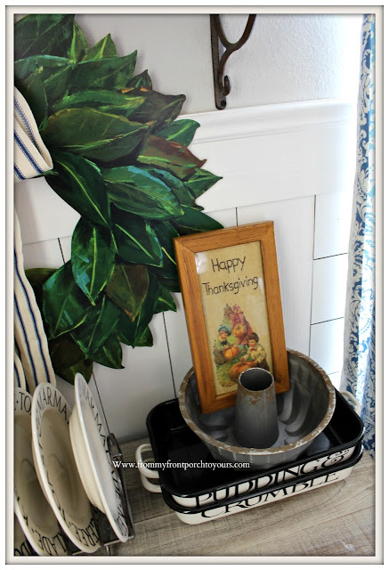 Fall Breakfast Nook Decor-Emma Bridgewater-Enamelware-Farmhouse Style-Cottage-From My Front Porch To Yours