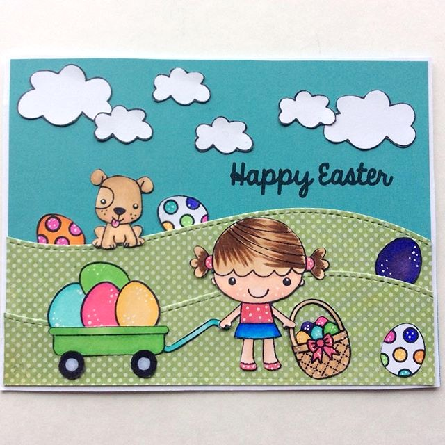Sunny Studio: A Good Egg Easter Card by Ashley