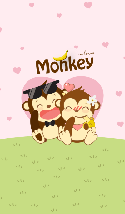 Monkey in love (Pink ver.)