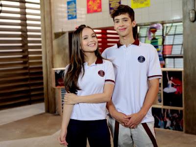 Mirela e Luca Tuber. Lourival Ribeiro - SBT