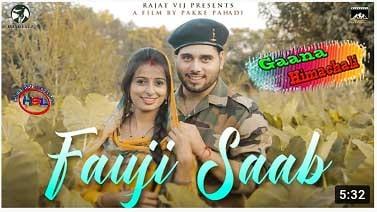 FAUJI SAAB mp3 Song download | Rajat Vij ~ Gaana Himachali