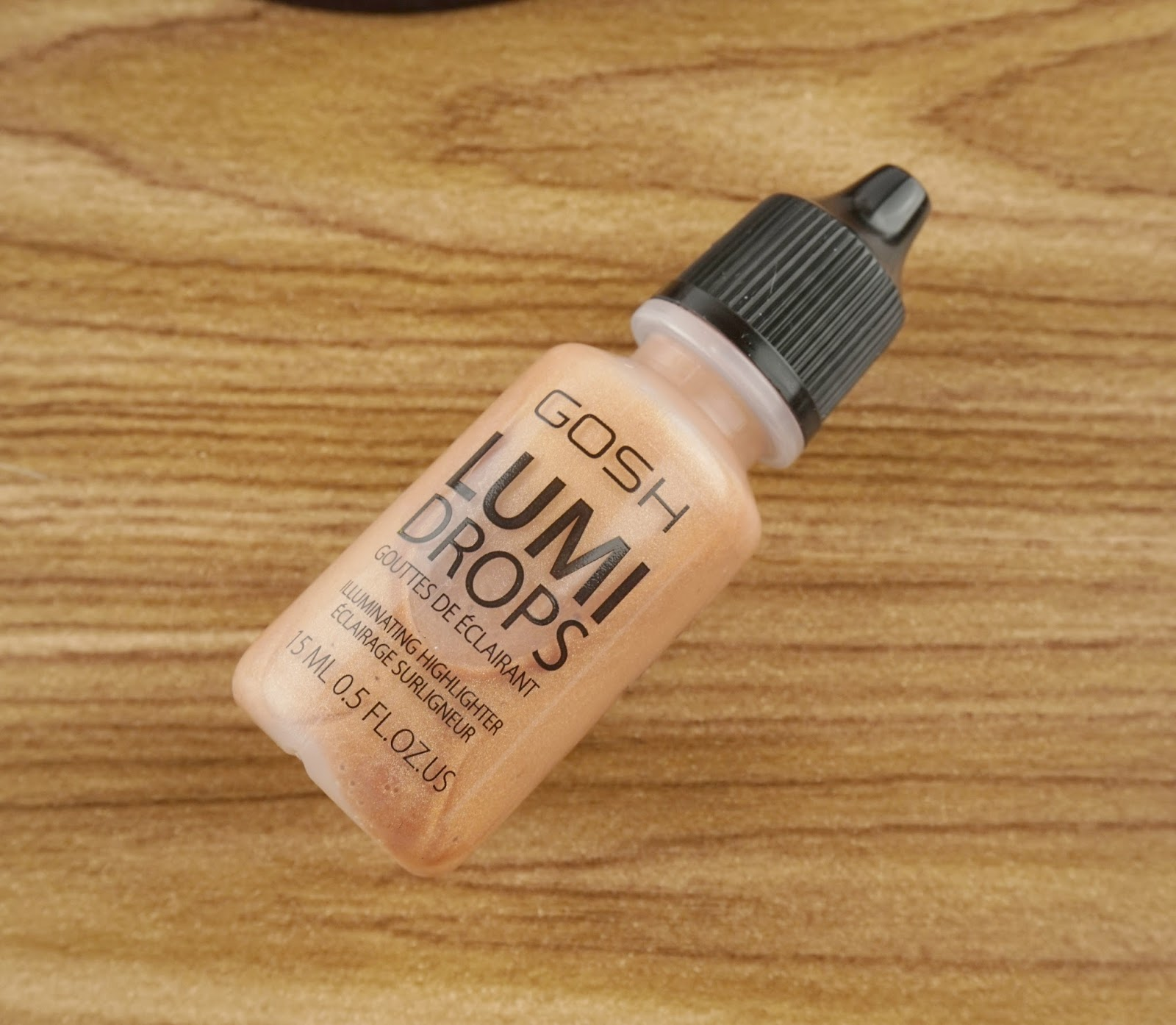 GOSH Cosmetics core products review lumi drops  peach