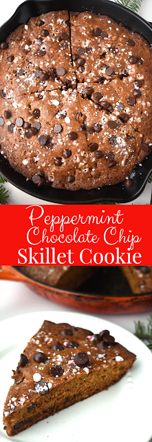 peppermint chocolate chip skillet cookie recipe