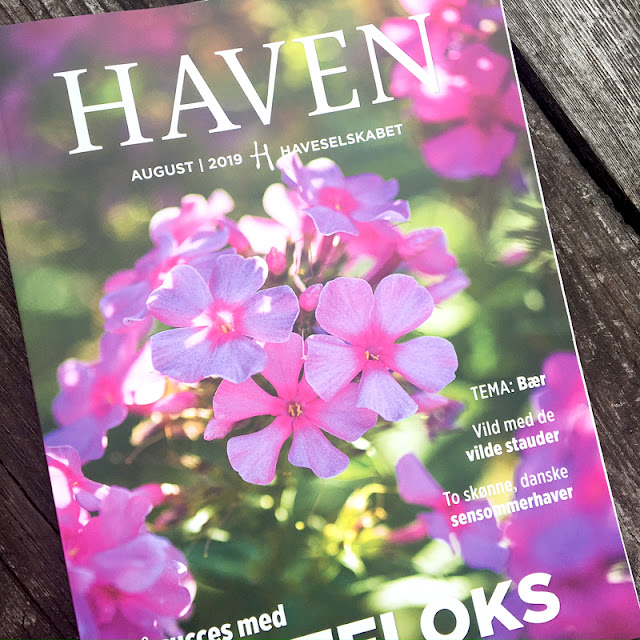 Artikel om min have i haveselskabets magasin Haven