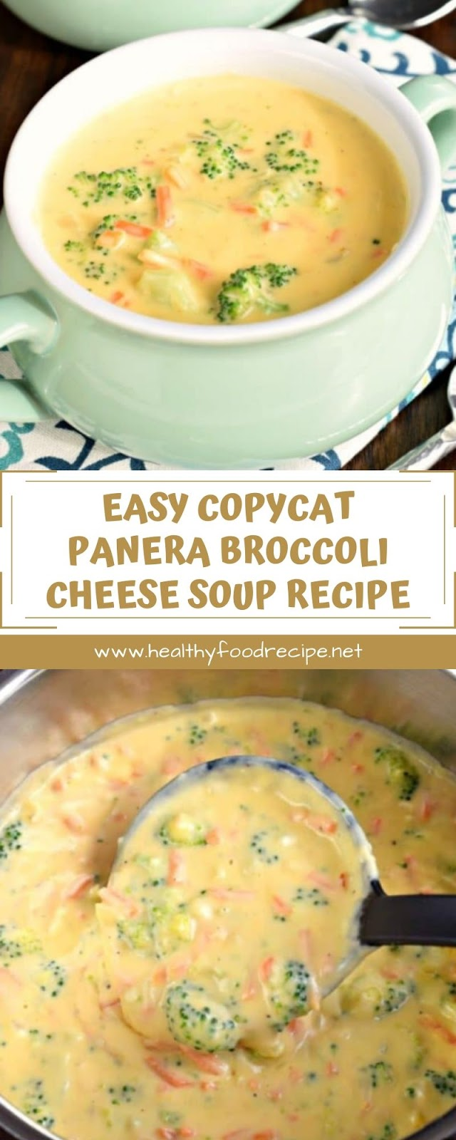 EASY COPYCAT PANERA BROCCOLI CHEESE SOUP RECIPE