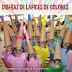 disfraz casero de lápices de colores con bolsa de basura