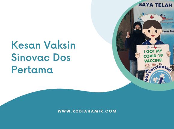 Kesan Vaksin Sinovac Dos Pertama