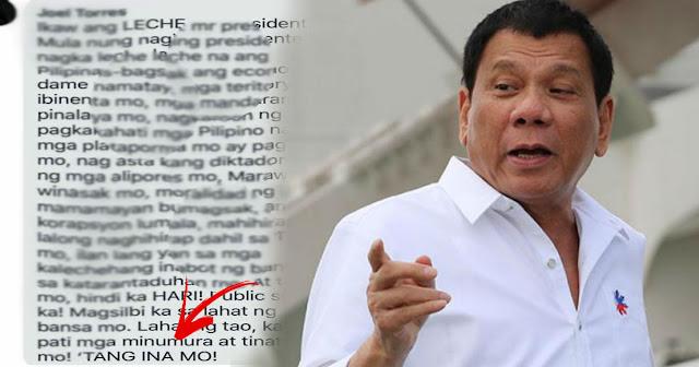 LOOK | Netizen naglabas ng galit kay pangulong Duterte: Public servant ka mag silbi ka sa mga tao sa bansa mo!