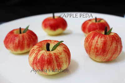 Apple peda milk fudge milkpowder recipes sweets recipes diwali sweets ayeshas kitchen