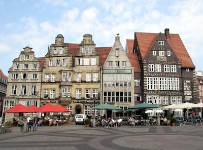 Casas; Marktplatz; Bremen; Brême; Alemania; Deutschland; Germany; Allemagne