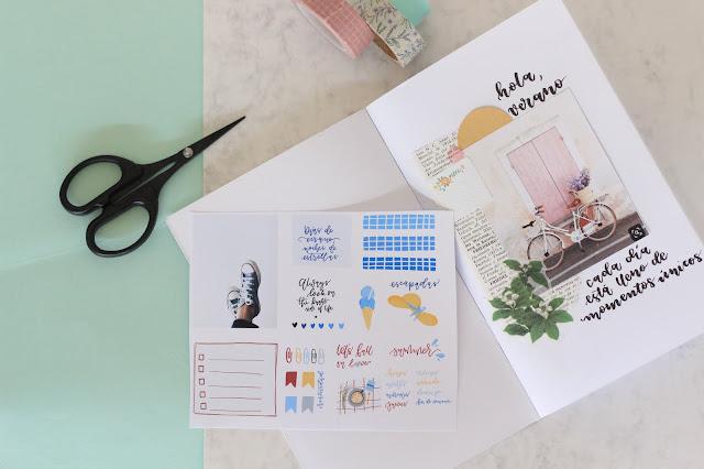 Un descargable perfecto para tu bullet journal y cuadernos de viaje