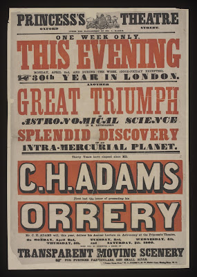 Poster advertising C.H. Adams and His Orrery