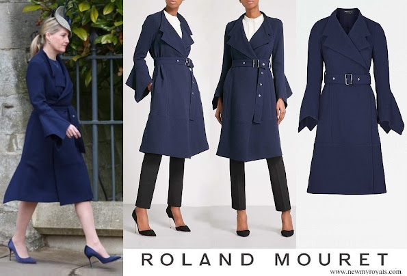 Countess Sophie of Wessex wore ROLAND MOURET Millington wool crepe coat