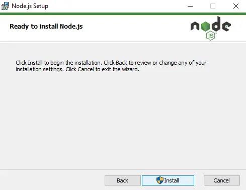 Last Step Install Node.js
