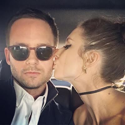 Troian Bellisario kissing husband Patrick J. Adams. Teen Choice Awards