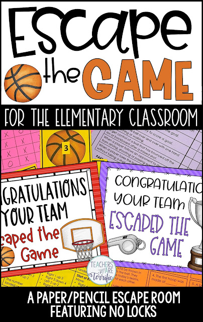 Designed for the elementary classroom this escape room features basketball topics and NO LOCKS!