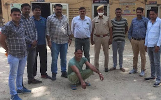 Rajasthan-Crime-News-Karauli-jail Arrested the absconding prisoner from the jail Karauli, who was cutting the absconding as a monk